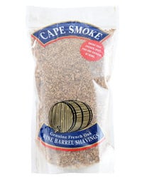 Cape smoke wine barrel shavings
